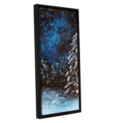 Brushstone A Winter Snow Gallery Wrapped Floater-Framed Canvas Wall Art