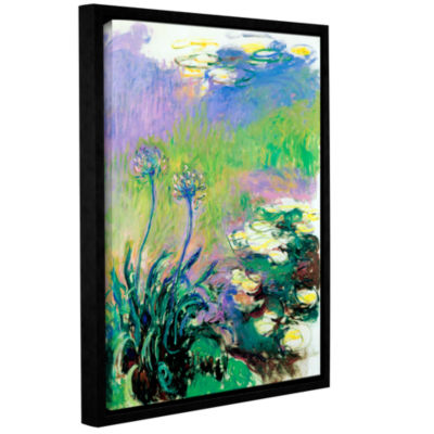 Brushstone Agapanthus Gallery Wrapped Floater-Framed Canvas Wall Art