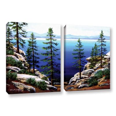 Brushstone Across Lake Tahoe 2-pc. Gallery WrappedCanvas Wall Art