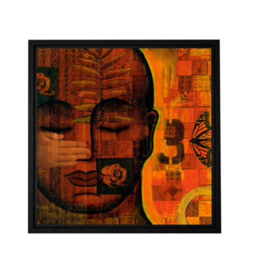 Brushstone All Seeing 1 Gallery Wrapped Floater-Framed CanvasWall Art