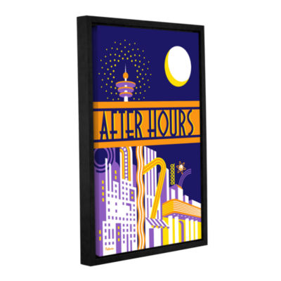 Brushstone After Hours Gallery Wrapped Floater-Framed Canvas Wall Art