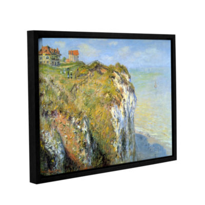 Brushstone Cliffs Gallery Wrapped Floater-Framed Canvas Wall Art