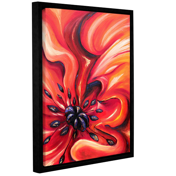Brushstone Consuming Fire Gallery Wrapped Floater-Framed Canvas Wall Art