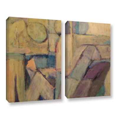 Brushstone Conversation 2-pc. Gallery Wrapped Canvas Wall Art