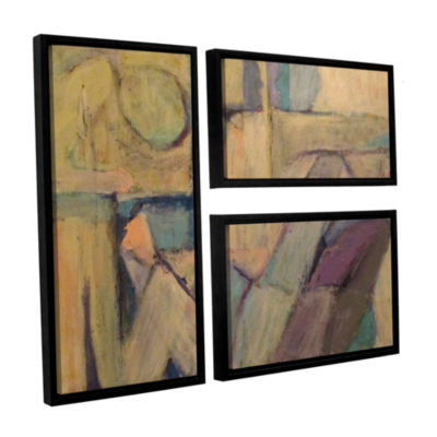 Brushstone Conversation 3-pc. Flag Floater FramedCanvas Wall Art