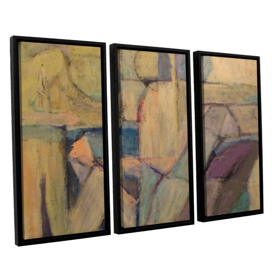 Brushstone Conversation 3-pc. Floater Framed Canvas Wall Art