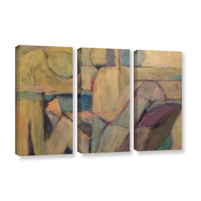 Brushstone Conversation 3-pc. Gallery Wrapped Canvas Wall Art