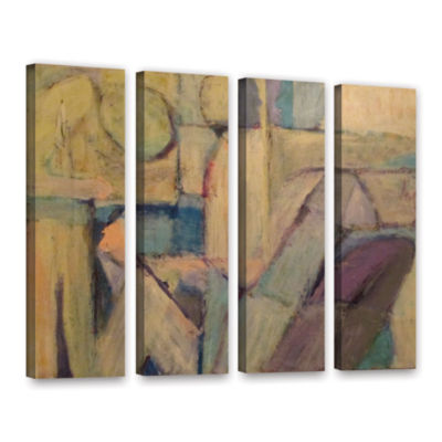 Brushstone Conversation 4-pc. Gallery Wrapped Canvas Wall Art