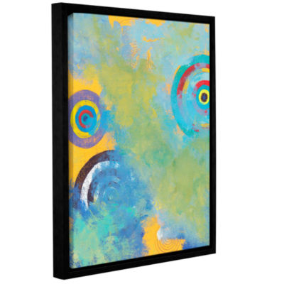 Brushstone Circles Gallery Wrapped Floater-FramedCanvas Wall Art