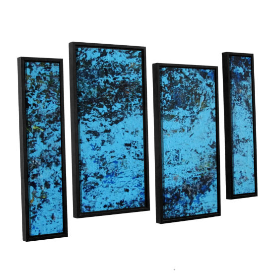 Brushstone Cosic Wind 4-pc. Floater Framed Staggered Canvas Wall Art