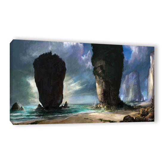 Brushstone Beach Front Gallery Wrapped Canvas WallArt