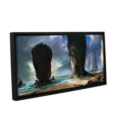 Brushstone Beach Front Gallery Wrapped Floater-Framed Canvas Wall Art