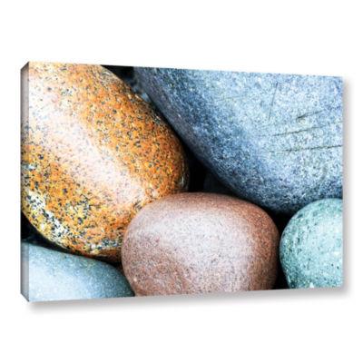 Brushstone Beach Rocks Gallery Wrapped Canvas WallArt
