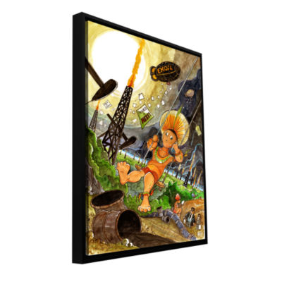 Brushstone Big Oil 1 Gallery Wrapped Floater-Framed Canvas Wall Art