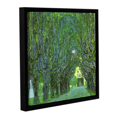 Brushstone Avenue in the Park Gallery Wrapped Floater-Framed Canvas Wall Art