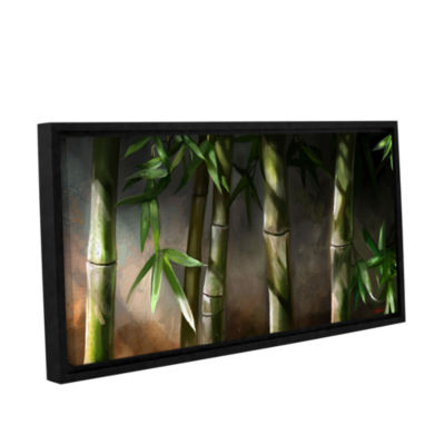 Brushstone Bamboo Gallery Wrapped Floater-Framed Canvas Wall Art