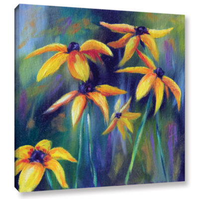 Brushstone Black Eyed Susans 1 Gallery Wrapped Canvas Wall Art