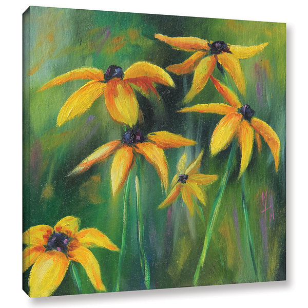 Brushstone Black Eyed Susans 2 Gallery Wrapped Canvas Wall Art