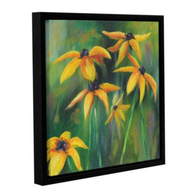 Brushstone Black Eyed Susans 2 Gallery Wrapped Floater-Framed Canvas Wall Art