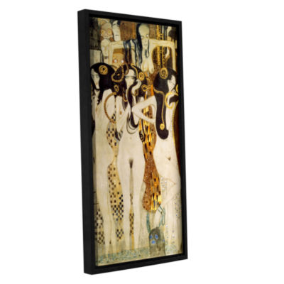 Brushstone Beethoven Frieze Gallery Wrapped Floater-Framed Canvas Wall Art
