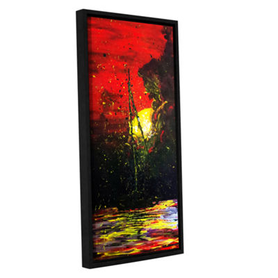 Brushstone Black Me Out Gallery Wrapped Floater-Framed Canvas Wall Art
