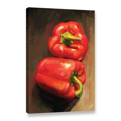 Brushstone Bell Peppers Gallery Wrapped Canvas Wall Art