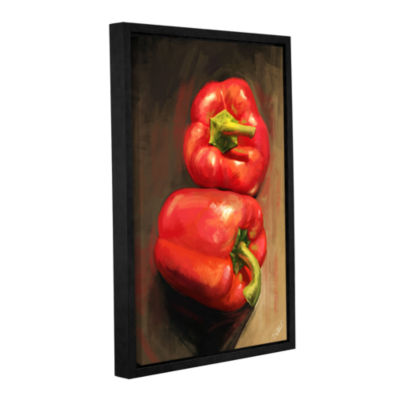 Brushstone Bell Peppers Gallery Wrapped Floater-Framed Canvas Wall Art
