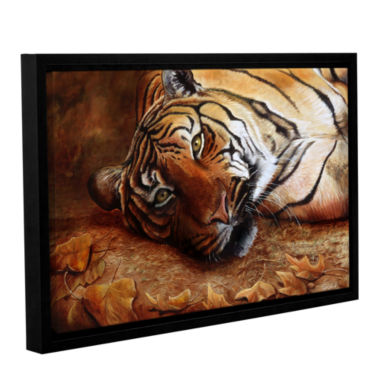 Brushstone Bengal Tiger Gallery Wrapped Floater-Framed Canvas Wall Art