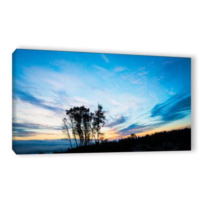 Brushtone Foggy Sunrise Gallery Wrapped Canvas Wall Art