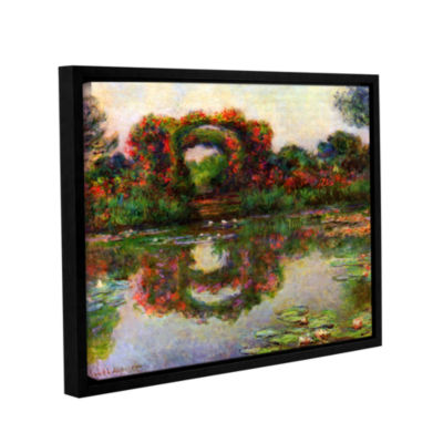 Brushtone Foliage Trestle Gallery Wrapped Floater-Framed Canvas Wall Art
