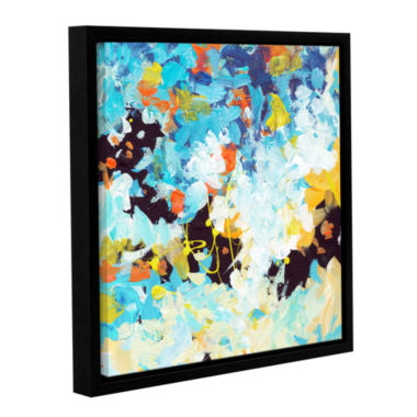 Brushtone Floral Garden 2 Gallery Wrapped Floater-Framed Canvas Wall Art