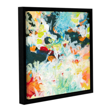 Brushtone Floral Garden 3 Gallery Wrapped Floater-Framed Canvas Wall Art