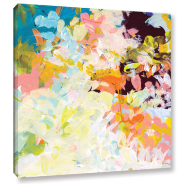 Brushtone Floral Garden Gallery Wrapped Canvas Wall Art