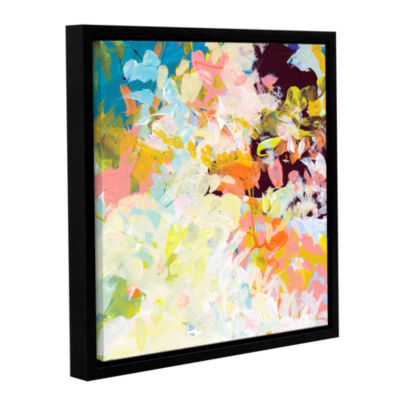 Brushtone Floral Garden Gallery Wrapped Floater-Framed Canvas Wall Art