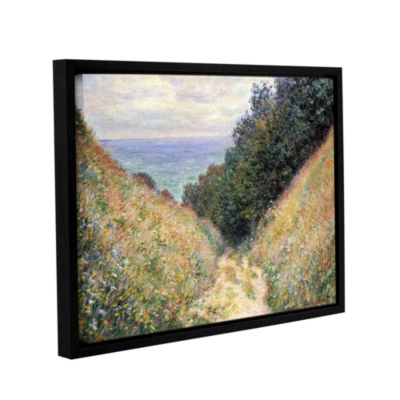 Brushtone Footpath Gallery Wrapped Floater-FramedCanvas Wall Art
