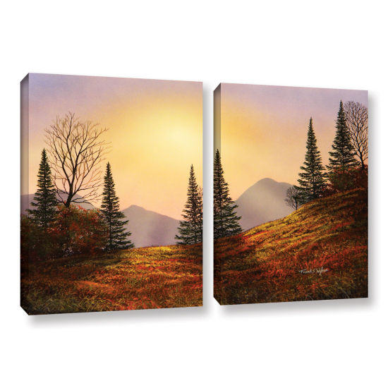 Brushtone Forest Edge 2-pc. Gallery Wrapped CanvasWall Art