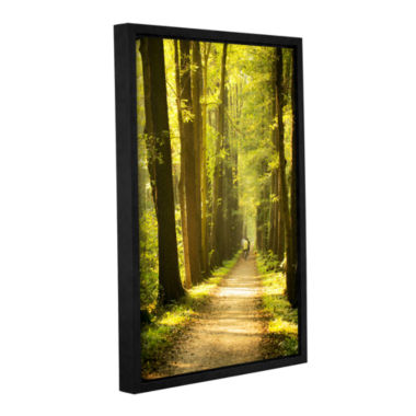 Brushtone Forest Spreewald Gallery Wrapped Floater-Framed Canvas Wall Art