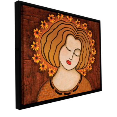 Brushtone Flowering Intuition Gallery Wrapped Floater-Framed Canvas Wall Art