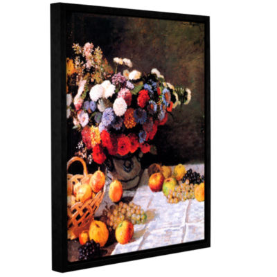 Brushtone Flowers And Fruit Gallery Wrapped Floater-Framed Canvas Wall Art