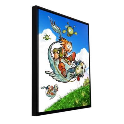 Brushtone Flying 1 Gallery Wrapped Floater-FramedCanvas Wall Art