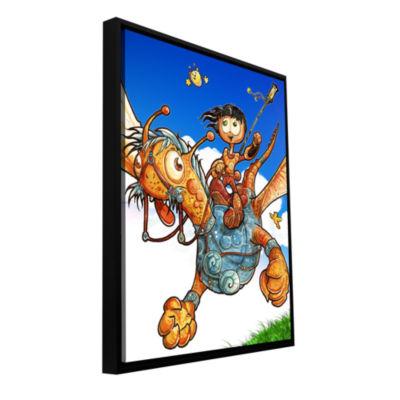 Brushtone Flying 2 Gallery Wrapped Floater-FramedCanvas Wall Art