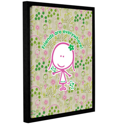 Brushtone Friends Gallery Wrapped Floater-Framed Canvas Wall Art