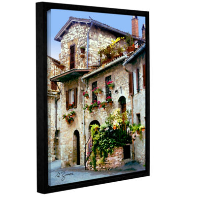 Brushstone Assisi Italy Gallery Wrapped Framed Canvas Wall Art