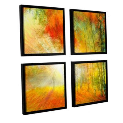 Brushstone Autumn Colours 4-pc. Framed Canvas Square