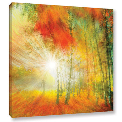 Brushstone Autumn Colours Gallery Wrapped Canvas Wall Art