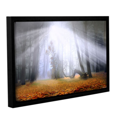 Brushstone Autumn Morning Gallery Wrapped Framed Canvas Wall Art