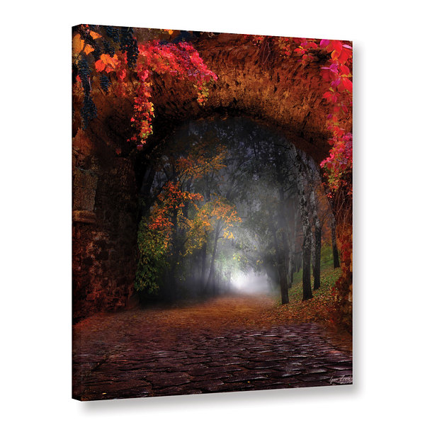 Brushstone Autumn Road Gallery Wrapped Canvas WallArt
