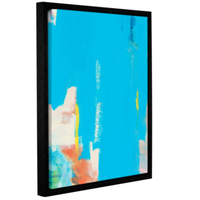 Brushstone Aqua Tide Gallery Wrapped Framed CanvasWall Art