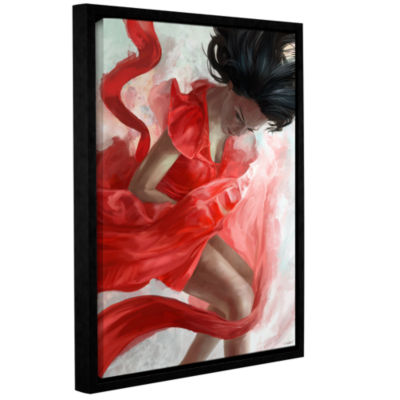 Brushstone Dissension Gallery Wrapped Floater-Framed Canvas Wall Art