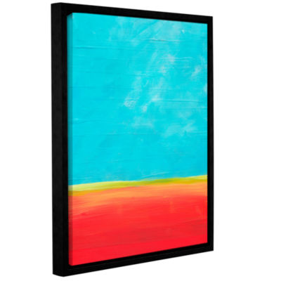 Brushstone Earth Meets Sky 1 Gallery Wrapped Floater-Framed Canvas Wall Art
